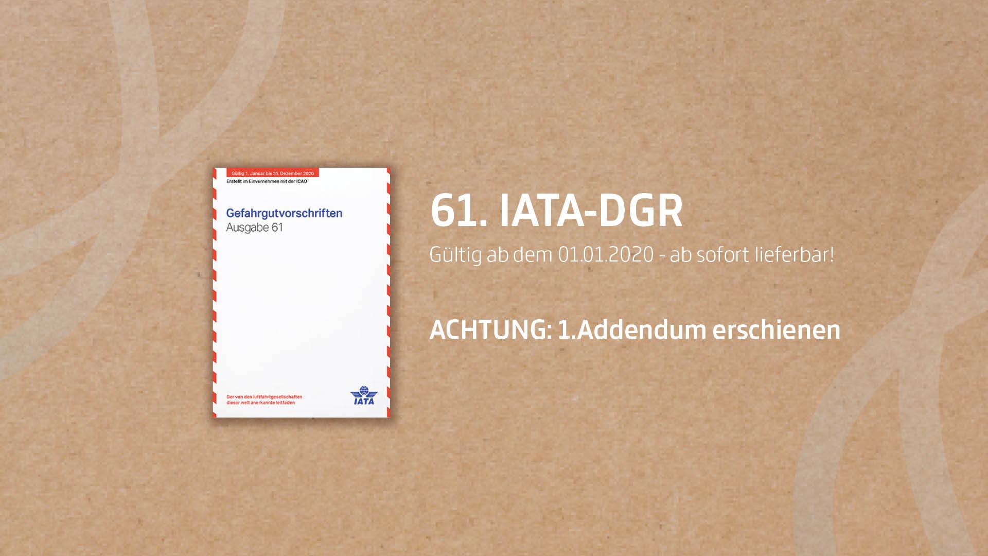 IATA DGR Gefahrgutvorschriften 2020 inkl. Addendum