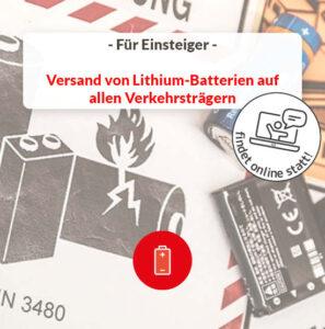 Versand Lithium-Batterien Straße See Luft
