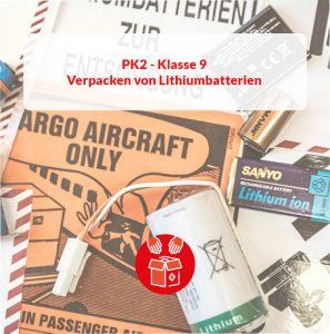 Grundlehrgang Luft: Verpacker (PK 2) Lithium Batterien (Klasse 9)